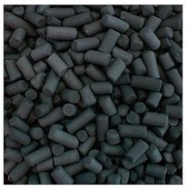 Activated carbon air filter pellets