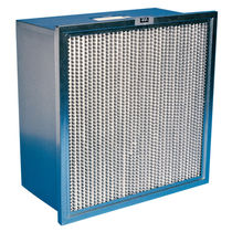 Air filter / panel / pleated / high-efficiency