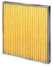 Air filter / panel / pleated / high-capacity