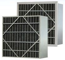 Air filter / panel / activated carbon / pleated