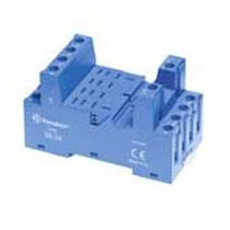 Electromechanical relay socket / square-based / for printed circuit boards