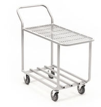 Service cart / steel / wire mesh platform / shelf