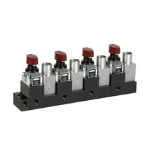 Rotary hydraulic directional control valve / manual / modular