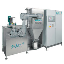 Steam jet mill / vertical / for ceramics / for metals