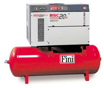 Air compressor / screw / stationary / lubricated