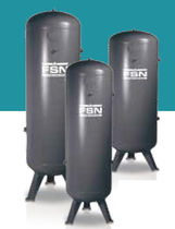 Compressed air tank / storage / metal / vertical