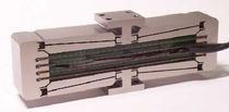 Linear positioning stage / piezoelectric / twin-shaft / long-travel