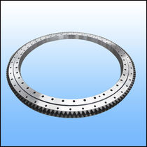 External-toothed slewing ring / ball / single-row / for public works, excavators and cranes