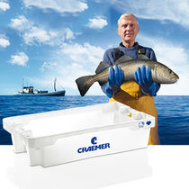 Transport crate / HDPE / for fish / stackable