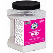 Granular absorbent / for acids / hydrocarbon