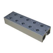 Multi-channel manifold / aluminum / for gas / rectangular base
