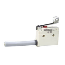 Snap-action micro-switch / single-pole / subminiature / IP67