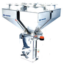Granulates batch blender / gravimetric / for the plastics industry