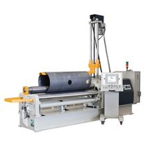 4-roller plate bending machine / hydraulic / with mobile control panel / automatic
