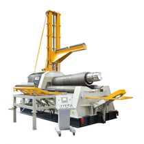 4-roller plate bending machine / hydraulic / conical / numerical control