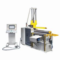 4-roller plate bending machine / pneumatic / with mobile control panel / automatic