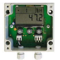 Relative humidity transmitter / duct-mount / digital / with temperature measurement