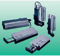Linear actuator / pneumatic / rodless / double-acting