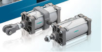 Pneumatic cylinder / double-acting / standard / compact