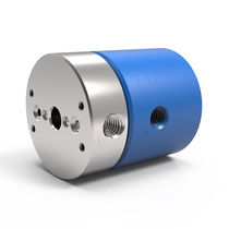 Vacuum rotary union / for gas / for air / 2-passage
