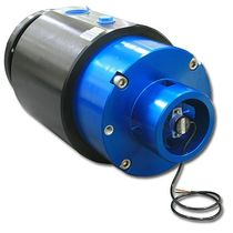 Oil rotary union / multi-passage / hydraulic / with integrated rotary encoder