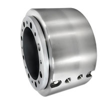 Water rotary union / 2-passage / stainless steel