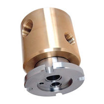 Gas rotary union / 2-passage / stainless steel