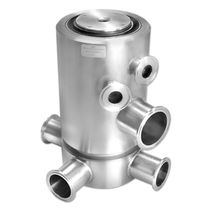 Oil rotary union / for gas / 3-passage / stainless steel