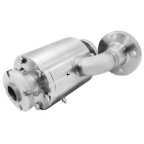Chemical rotary union / 2-passage / stainless steel