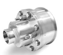 Steam rotary union / high-temperature / stainless steel