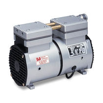 Rocking piston vacuum pump / lubricated / single-stage / small