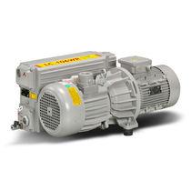 Rotary vane vacuum pump / lubricated / single-stage