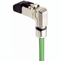 Data connector / RJ45 / elbow / metal