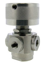 Ball valve / manual / 4-way / stainless steel