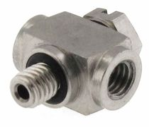 Screw-in fitting / T / hydraulic / stainless steel
