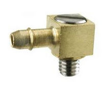 Threaded fitting / elbow / brass / stainless steel