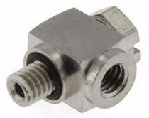 Threaded fitting / elbow / hydraulic / stainless steel