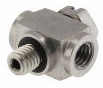 Threaded fitting / T / hydraulic / stainless steel