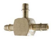 Barbed fitting / T / pneumatic / stainless steel