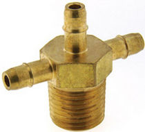 Threaded fitting / cross / hydraulic / stainless steel