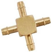 Barbed fitting / cross / pneumatic / stainless steel