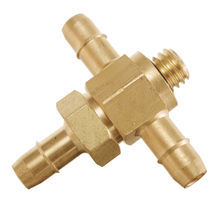 Barbed fitting / T / pneumatic / brass