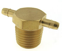 Threaded fitting / T / stainless steel / brass