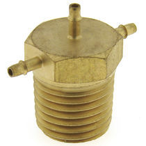 Screw-in fitting / cross / pneumatic / brass