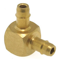 Barbed fitting / elbow / brass