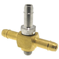 Screw-in fitting / cross / hydraulic / stainless steel