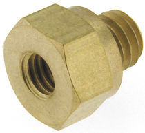 Screw-in fitting / straight / hydraulic / stainless steel