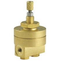 Air pressure regulator / membrane / single-stage / miniature