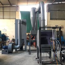 Open spray booth / filter / for metallization
