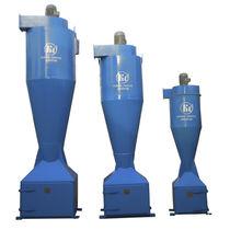 Inertial separator dust collector / pulse-jet backflow